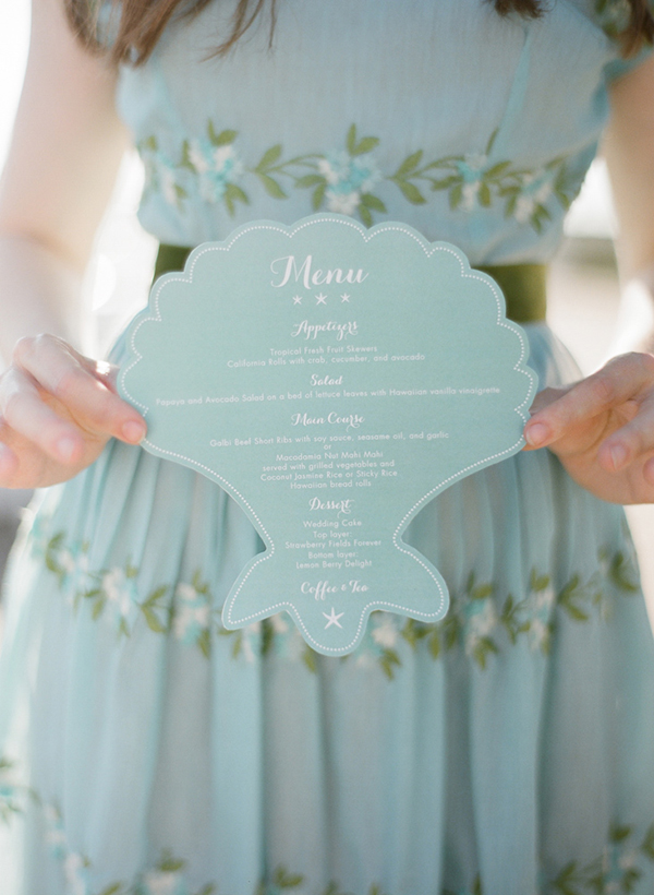 weddingmenu,seashellpaper,mintpaper,weddingstationary