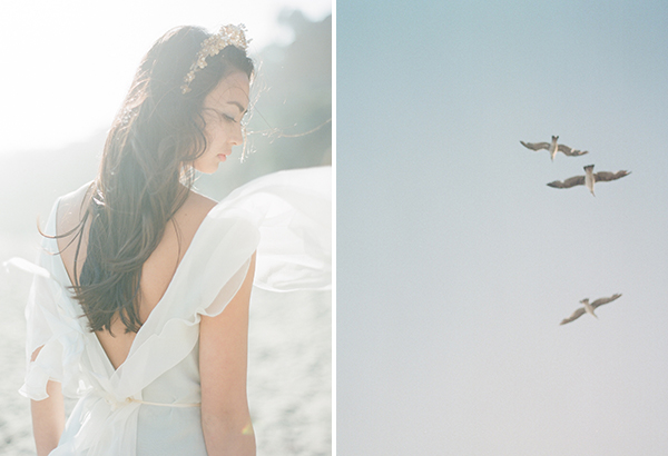 watercolorinspired, weddingshoot, Malibu, Fuji400h, artwithnature,editorial